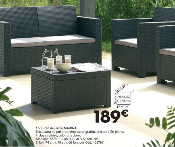 Oferta de Conjunto de jardín por 189€