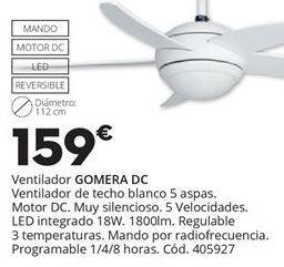 Oferta de VENTILADOR DE TECHO GOMERA por 159€