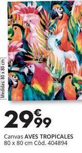 Oferta de CANVAS AVES TROPICALES por 29,99€
