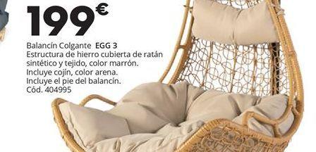 Oferta de BALANCIN COLGANTE EGG RELAX 3 por 199€