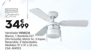 Oferta de VENTILADOR DE TECHO VENECIA por 34,99€