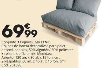 Oferta de Conjunto 3 cojines Cozy ETNIC  por 69,99€