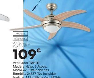 Oferta de Ventilador de techo TAHITÍ por 109€
