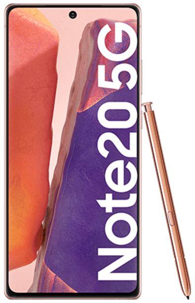 Oferta de Samsung Galaxy Note20 5G 256 GB bronce por 899€