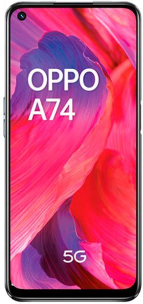 Oferta de Oppo A74 5G negro 128 GB por 299€
