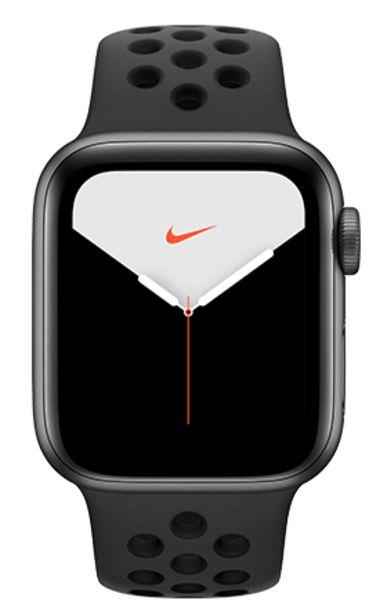 Oferta de Apple Watch Nike Series 5 44mm Caja gris espacial / Correa negra por 499€