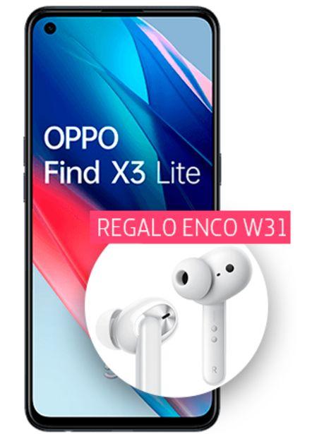 Oferta de Oppo Find X3 Lite negro 128 GB con auriculares Enco W31 de regalo por 419€
