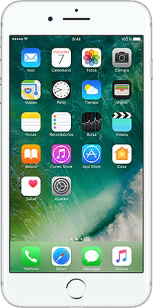 Oferta de IPhone 7 Plus 32 GB Seminuevo silver por 289€