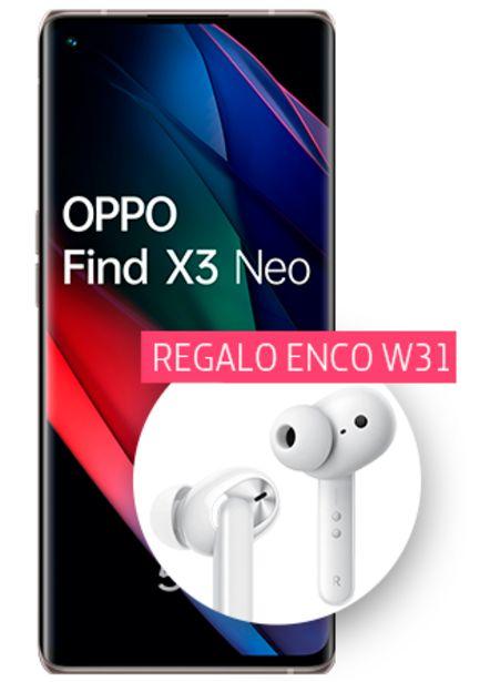 Oferta de OPPO Find X3 Neo negro 256 GB con auriculares Enco W31 de regalo por 799€