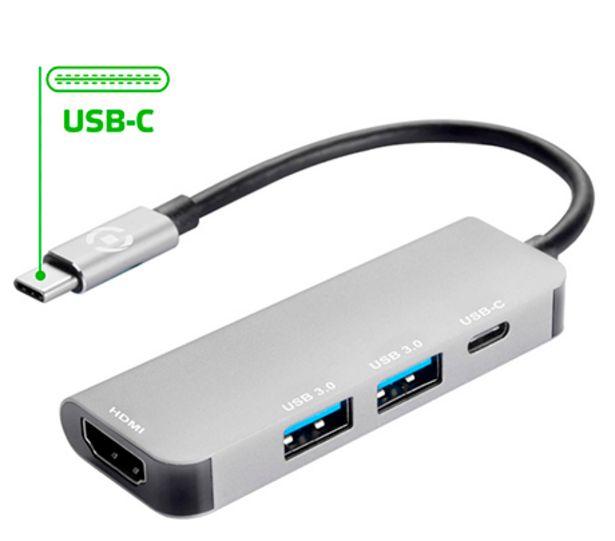 Oferta de Celly Adaptador USB-C ProHubsPlus por 59,99€