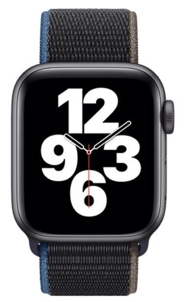 Oferta de Apple Watch SE 44mm Caja gris / Correa deportiva carbón por 379€