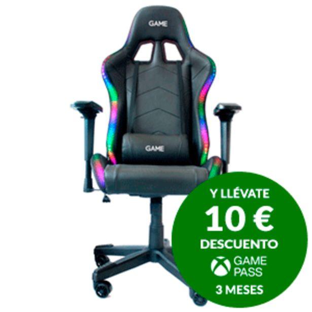 Oferta de GAME Racing ELITE RGB GT400  - Silla Gaming por 219€