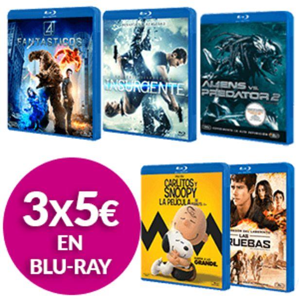 Oferta de 3 Películas Blu-Ray por 4€ por 4€