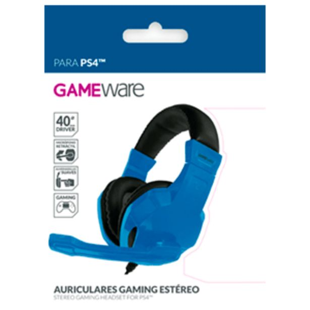 Oferta de Auriculares Gaming Estéreo GAMEware Azules por 10,95€
