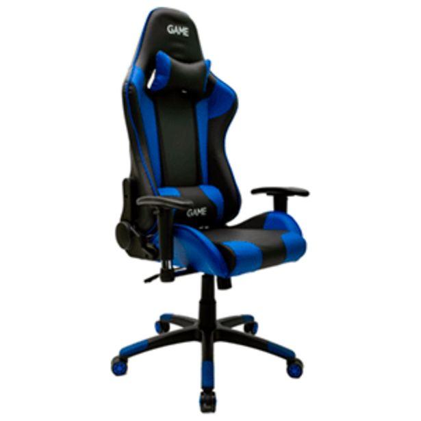 Oferta de GAME Racing PRO GT300 Azul-Negro Silla Gaming por 139,95€