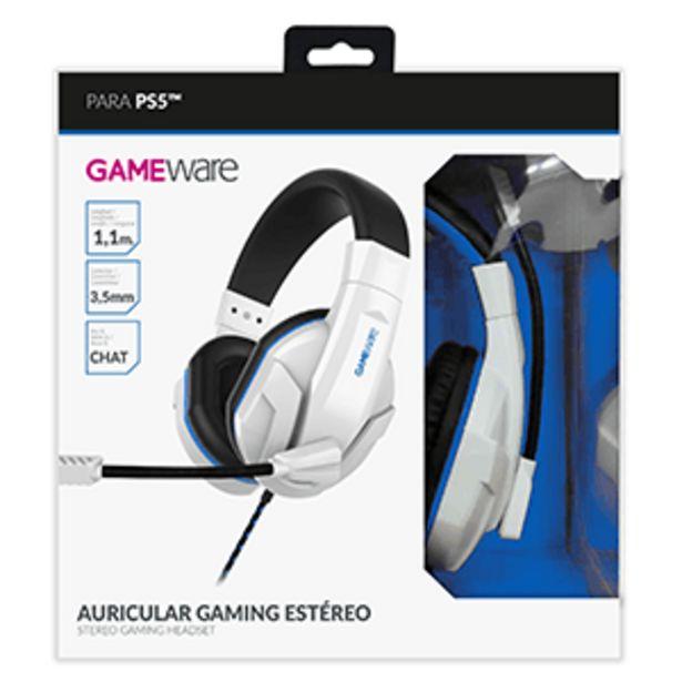 Oferta de Auriculares Gaming Estéreo GAMEware Blancos por 14,95€