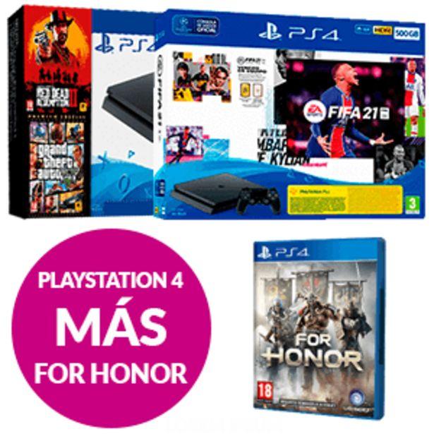 Oferta de PlayStation 4 + For Honor por 299,95€