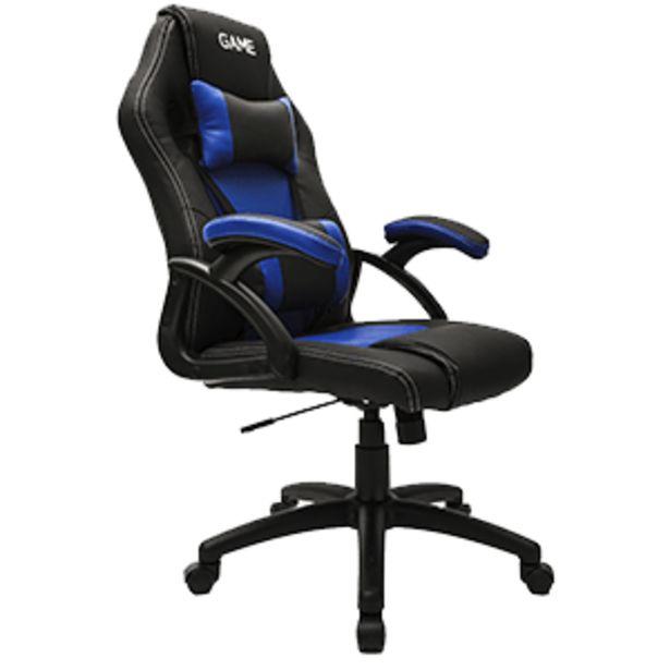 Oferta de GAME Racing GT100 Azul-Negro Silla Gaming por 79,95€