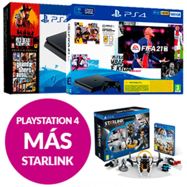 Oferta de PlayStation 4 + Starlink Starter Pack por 299,95€