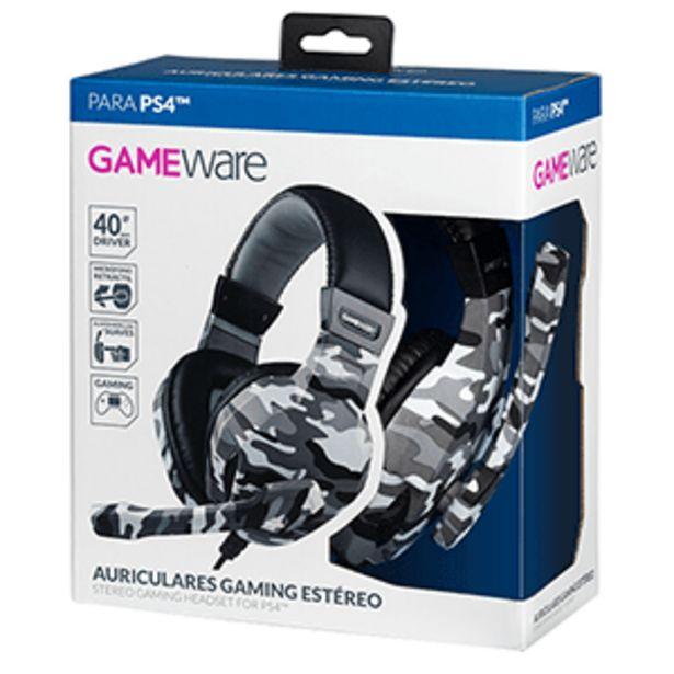 Oferta de Auriculares Gaming Estéreo GAMEware Camuflaje por 10,95€