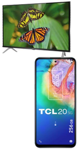 Oferta de TCL 20 256GB 5G mist grey + televisor 32 Smart TV Android S615 negro por 288€