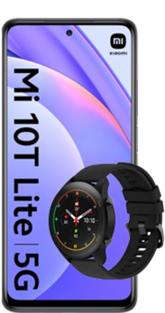 Oferta de Xiaomi Mi 10T Lite 5G gris +  Mi Watch negro por 270€