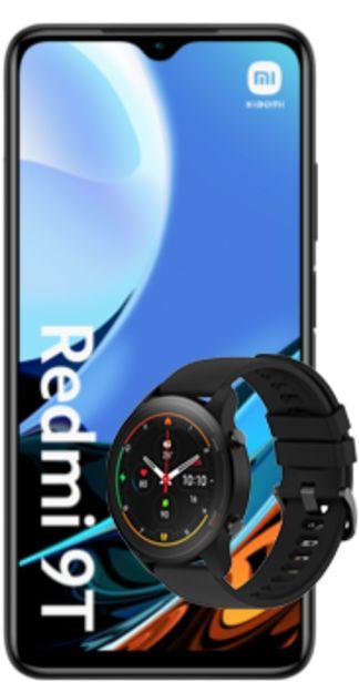 Oferta de Xiaomi Redmi 9T negro + Mi Watch negro por 180€