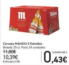 Oferta de Cerveza MAHOU 5 Estrellas  por 10,39€