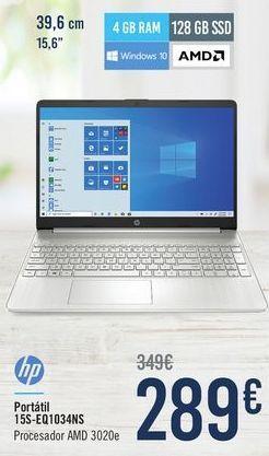 Oferta de HP Portátil 15S-EQ1034NS por 289€