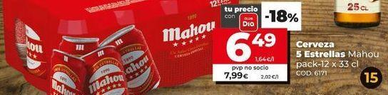 Oferta de CERVEZA por 6,49€