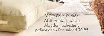 Oferta de Cojines colchón VICO  por 20,95€