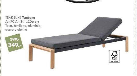 Oferta de Tumbonas TEAK LUXE  por 349€