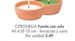 Oferta de Fuente con vela CITRONELLA  por 2,49€
