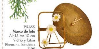 Oferta de Marco de fotos BRASS por 7,95€
