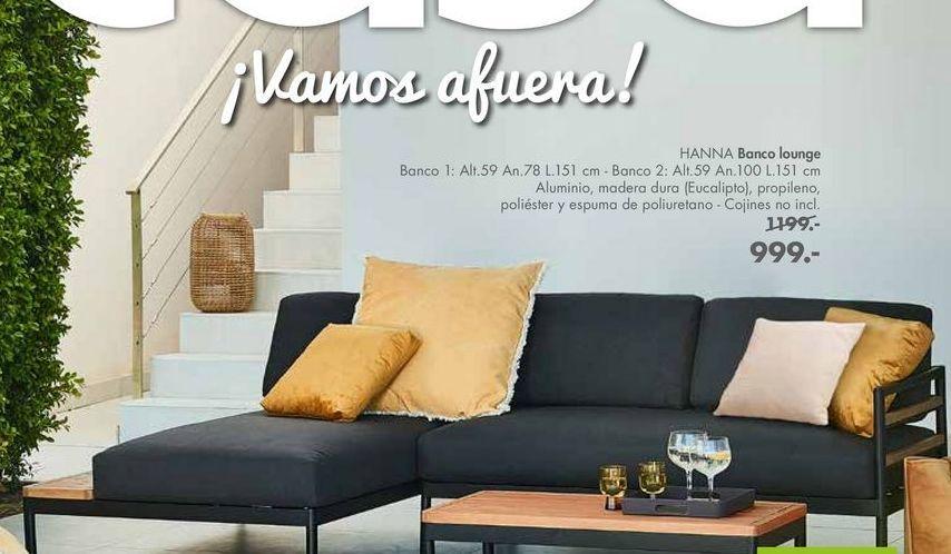 Oferta de Banco Lounge HANNA por 999€