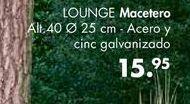 Oferta de Macetero LOUNGE  por 15,95€