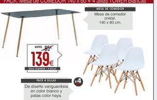 Oferta de Sillas x 4 unidades por 139€