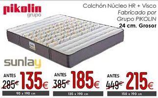 Oferta de Colchones Pikolin 24 cm de grosor 150 x 190 cm por 215€