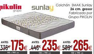 Oferta de Colchones 26 cm de grosor 150 x 190 cm por 265€