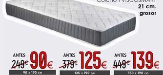 Oferta de Colchones 21 cm grosor 150 x 190 cm por 139€