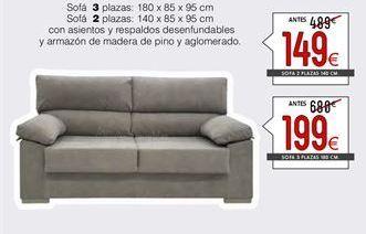Oferta de Sofás 3 plazas por 199€