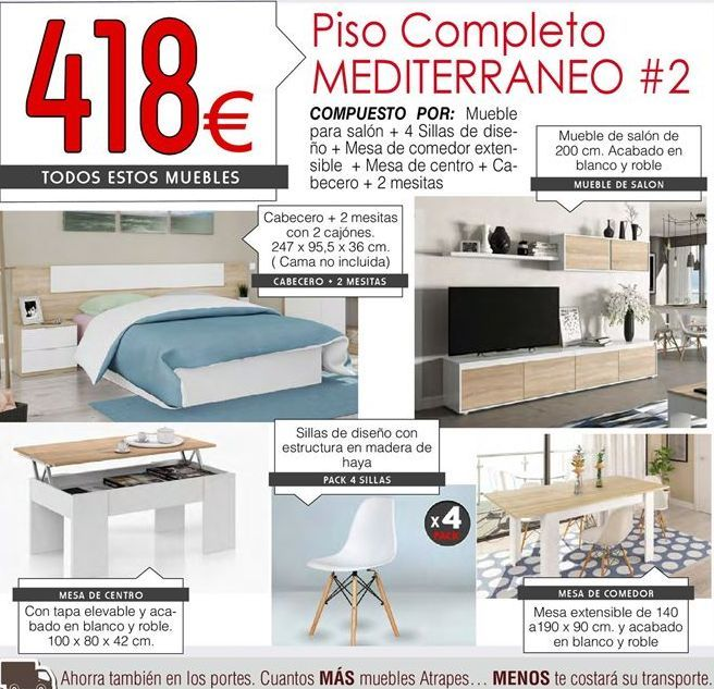 Oferta de Muebles por 418€
