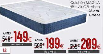 Oferta de Colchones 28 cm de grosor 150 x 190 cm por 209€