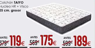 Oferta de Colchones 25 cm de grosor 150 x 190 cm por 189€