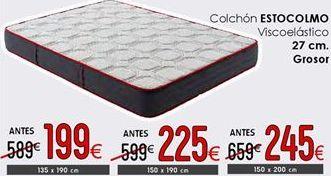 Oferta de Colchones 27 cm de grosor 150 x 200 cm por 245€