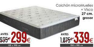 Oferta de Colchones 27 cm grosor 150 x 190 cm por 339€