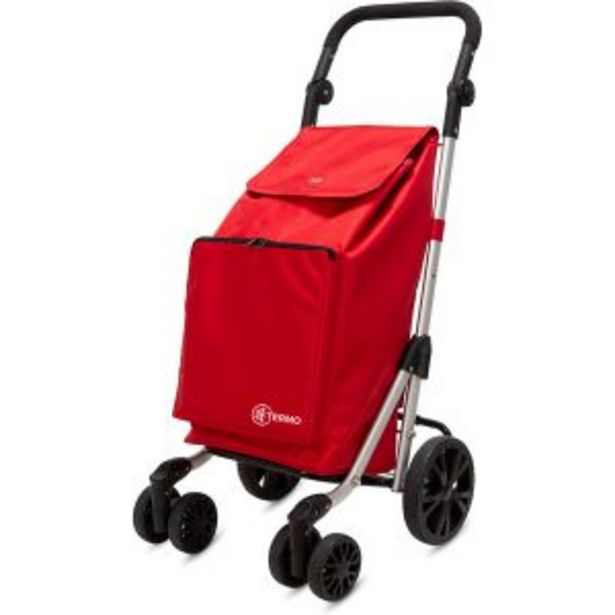 Oferta de Carro de la compra truck con 6 ruedas 49 l rojo Duett por 64,95€