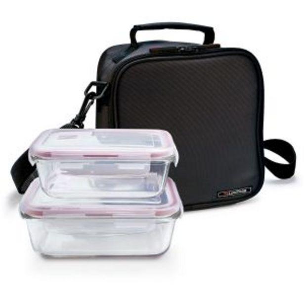 Oferta de Lunchbag basic negra + 2 contenedores Iris por 29,95€