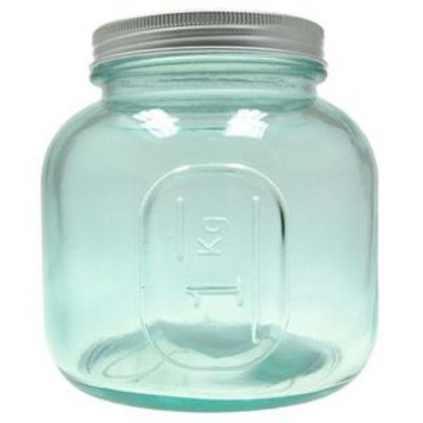 Oferta de Tarro de vidrio reciclado de 1 litro Sanmiguel por 6,45€