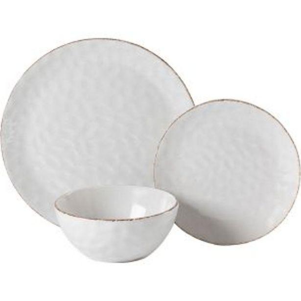 Oferta de Vajilla de 18 piezas blanca con relieve Culinarium por 54,95€
